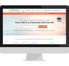 form 990 e postcard